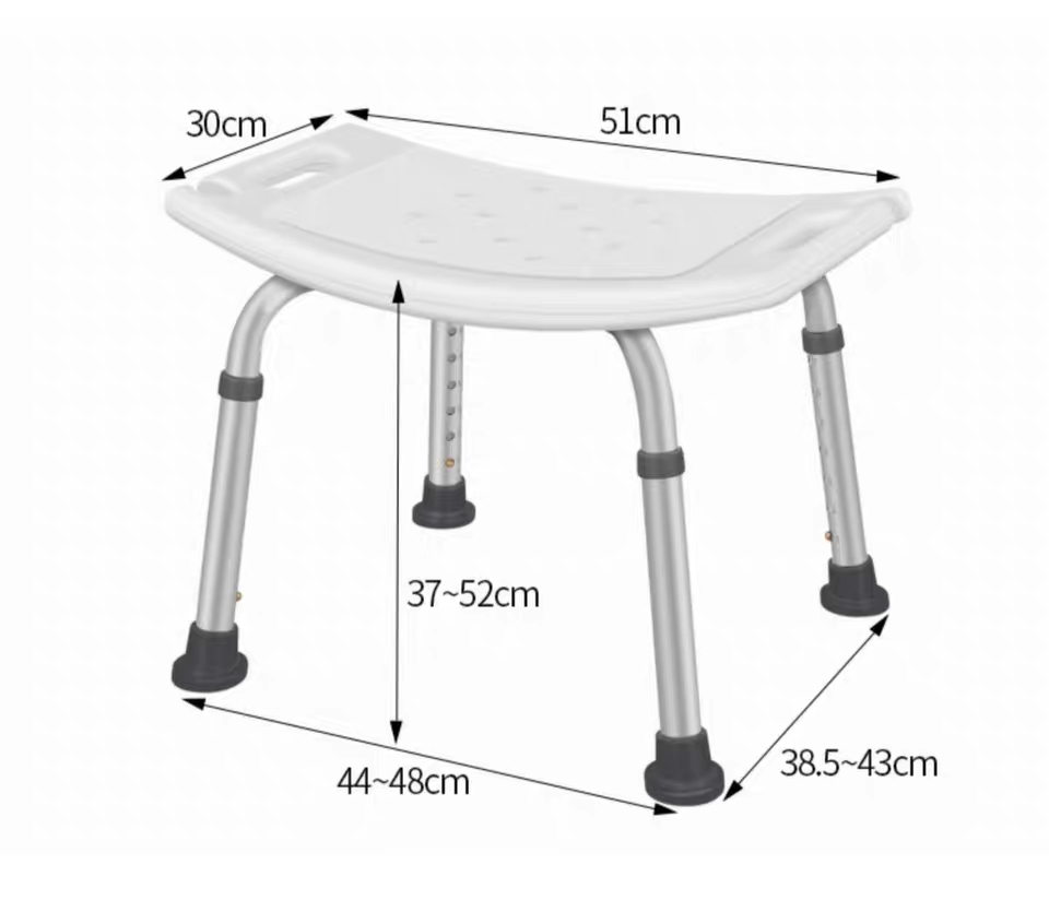 Elderly Adjustable Medical Bath Tub Shower Chair Bench Stool Seat 7 Height 5