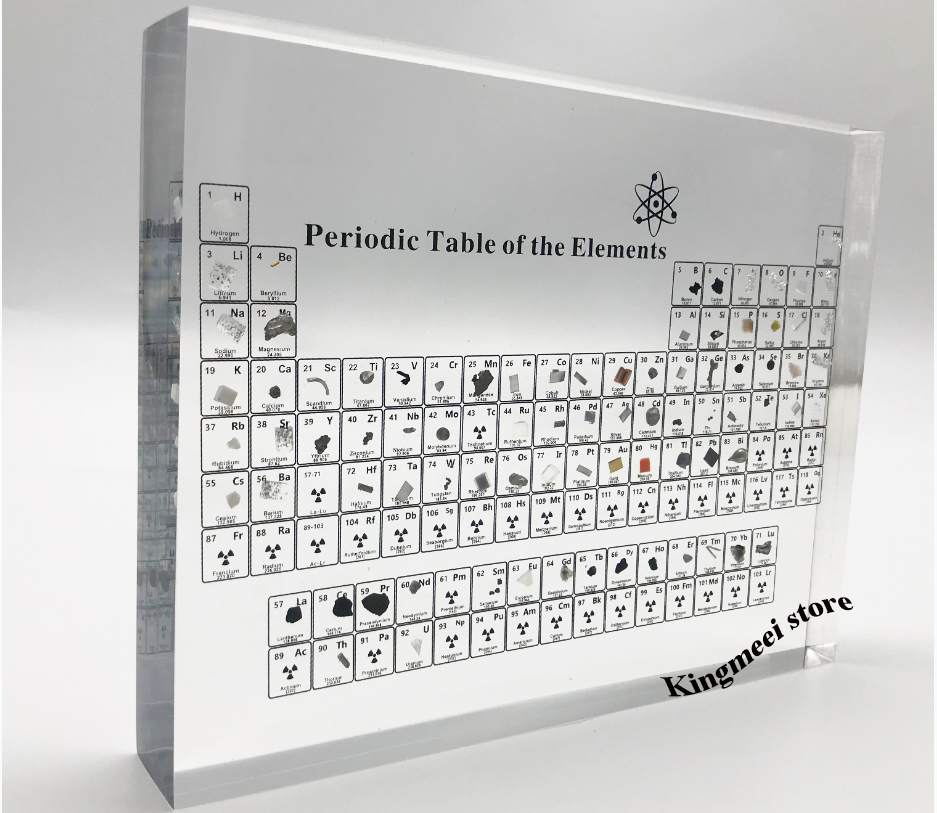 Large Stock Acrylic  Periodic Table  Chemical Periodic Table Acrylic Crystal Physical Periodic Table Gifts  Real Elements inside 1