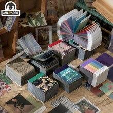Mr.paper – Carte en papier de fantaisie vintage pour mini scrapbooking, dessins pour fabrication de cartes, pour son journal ou un projet de bricolage, accessoire en lot de 4, kraft et rétro, 366 pages