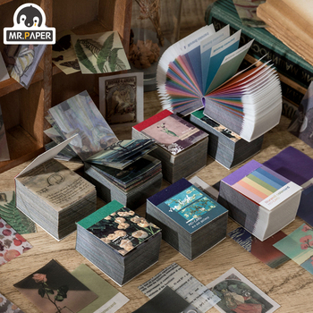 Mr.paper 4 Designs 366 pages Fantasy Vintage Mini Scrapbooking/Card Making/Journaling Project DIY Kraft Retro Writing paper Card