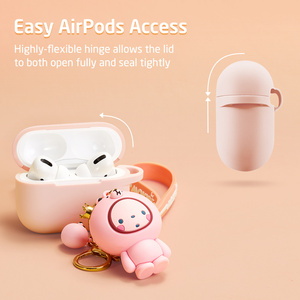 Image 5 - ESR Cartoon Case for AirPods Pro Soft Slim Silicone Charging Cover Shockproof Case with Cute Monkey Keychain for AirPods 3 2019