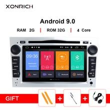 цены на 2Din Android 9.0 Car Multimedia for opel Vauxhall Astra H G J vivaro Vectra CAntara Zafira B Corsa D Meriva Veda RadioNavigation  в интернет-магазинах