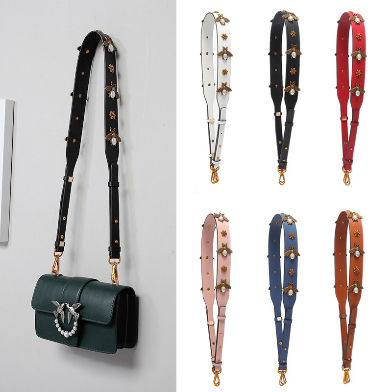 2020 Fashion Bee Stylish Handbag Strap Shoulder Bag Straps Classic Long Bag Belt Women Solid Color Adjustable Wide Bag Straps