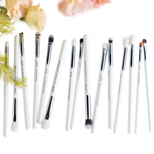 Image 5 - Jessup Pearl White/Silver Professional Makeup Brushes Set Make up Brush Tools kit Eye Liner Shader natural synthetic hair