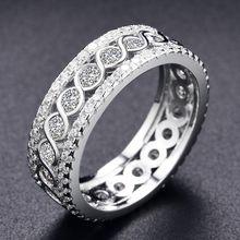Роскошное женское круговое обручальное кольцо модное подарки