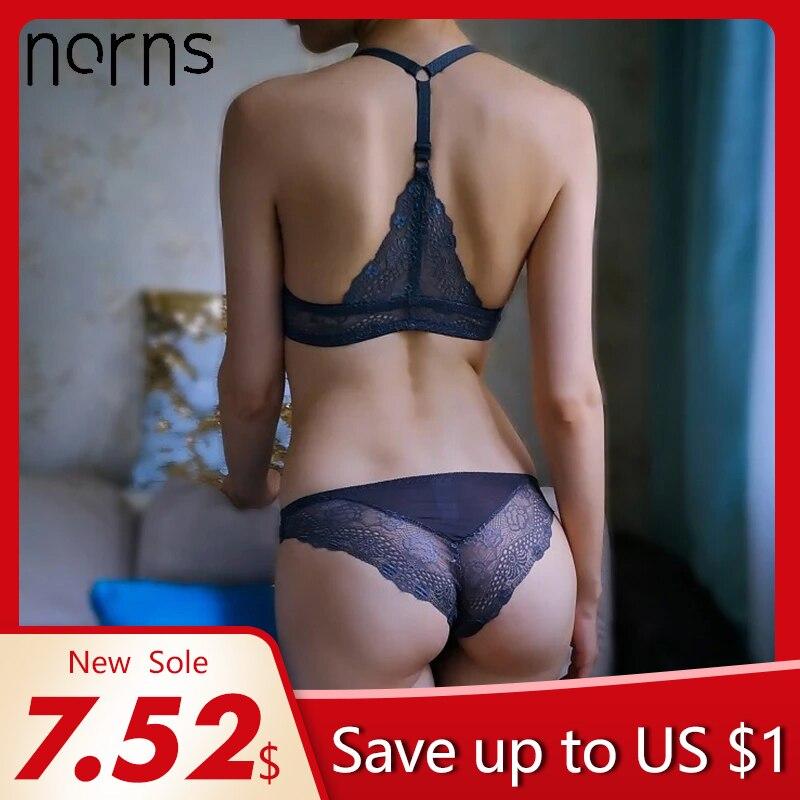 Norns women lace lingerie set plus size bra push up beautiful underwear Seamless female front closure bras sexy lingerie set