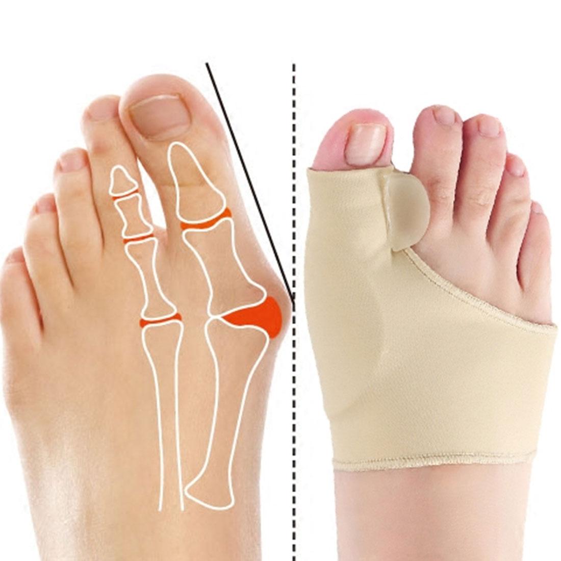 1Pair Big / Small Toe Corrector Orthotics Feet Foot Care Bone Thumb Adjuster Correction Soft Pedicure Socks Bunion Straightener