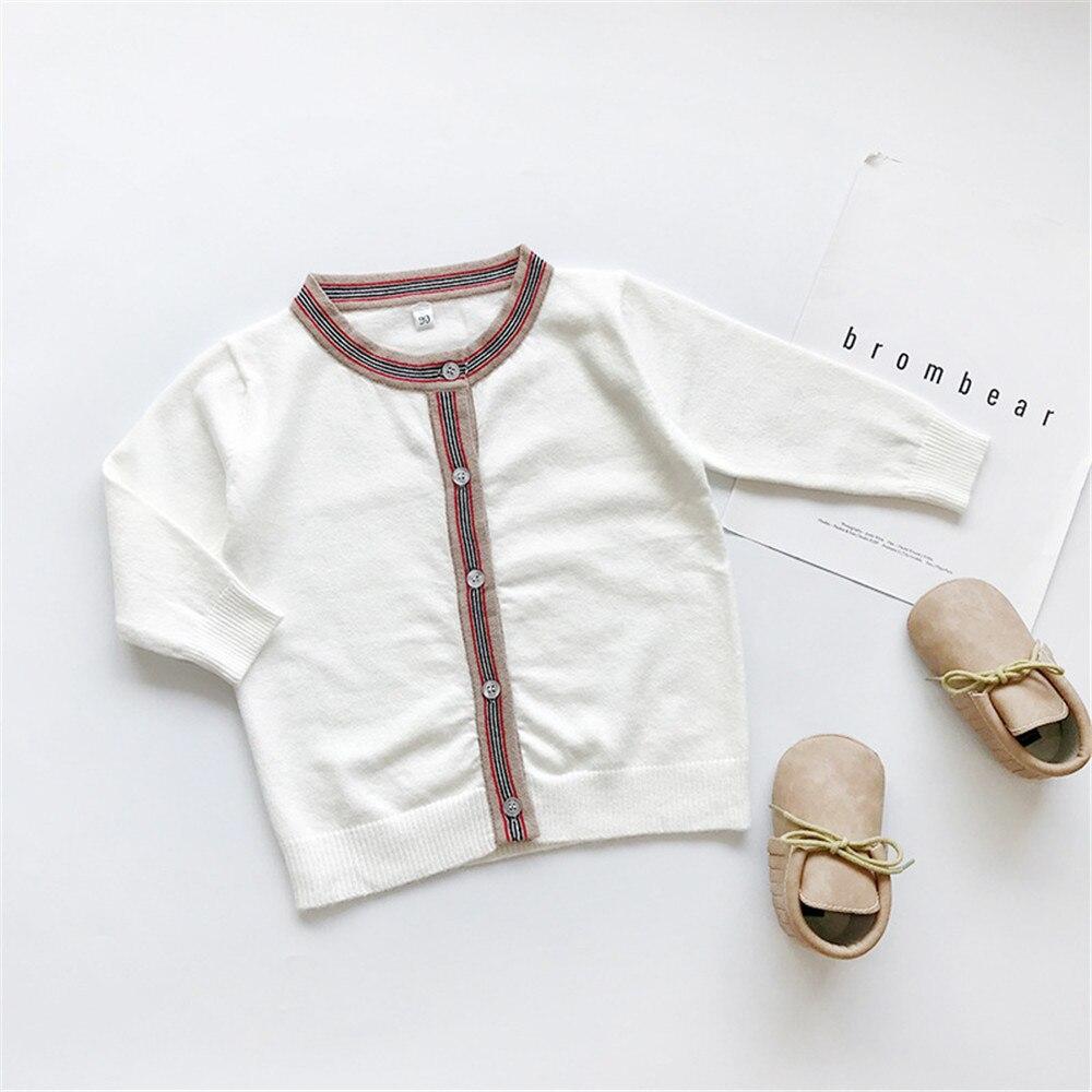 Coat Clothing Girls Casual White Autumn Kids Children New Top Outwear Cardigan-Coat Sweater