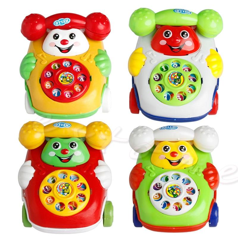 Drop Ship Baby Toys Music Cartoon Phone Mobile Educational Developmental Kids Gifts Toy