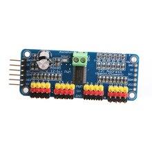 цена на PWM Servo Driver I2C 16 Channel 12 Bit Module For Arduino Raspberry Pi Robot
