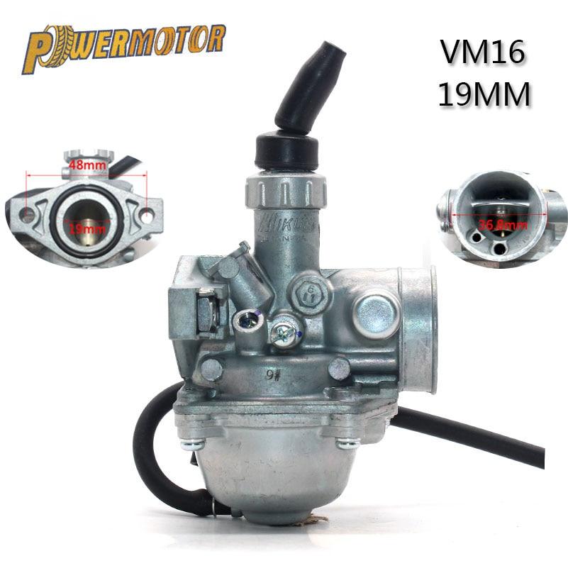 MOTOS VM16 PZ19 19mm Carburetor Carb For Mikuni Motorcycle Dirt Pit Bike ATV QUAD 70cc 90cc 110cc Motocross Carburetor