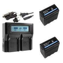 NP-F980D NP-F970 NP-F960 NP F970 NP F960 NP-F750 NP-F760 Батарея с светодиодный Мощность индикатор для SONY MC1500C 190P MC1000C TR555