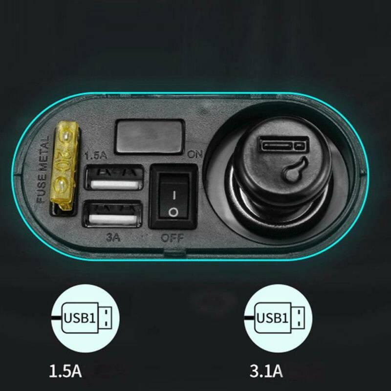 Otomobiller ve Motosikletler'ten Motosiklet Elektronik Aksesuarları'de 12V 24V usb sigara çakmağı Su Geçirmez Güç Bağlantı Noktası çıkış soketi Motosiklet Için title=