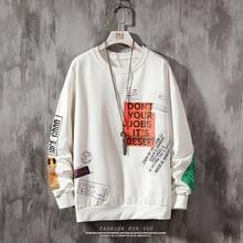 Print hoodies letter  Oversized Pullover Sweatshirts Hoodies Men Harajuku Hip Hop Hipster Streetwear Hoodie Tops