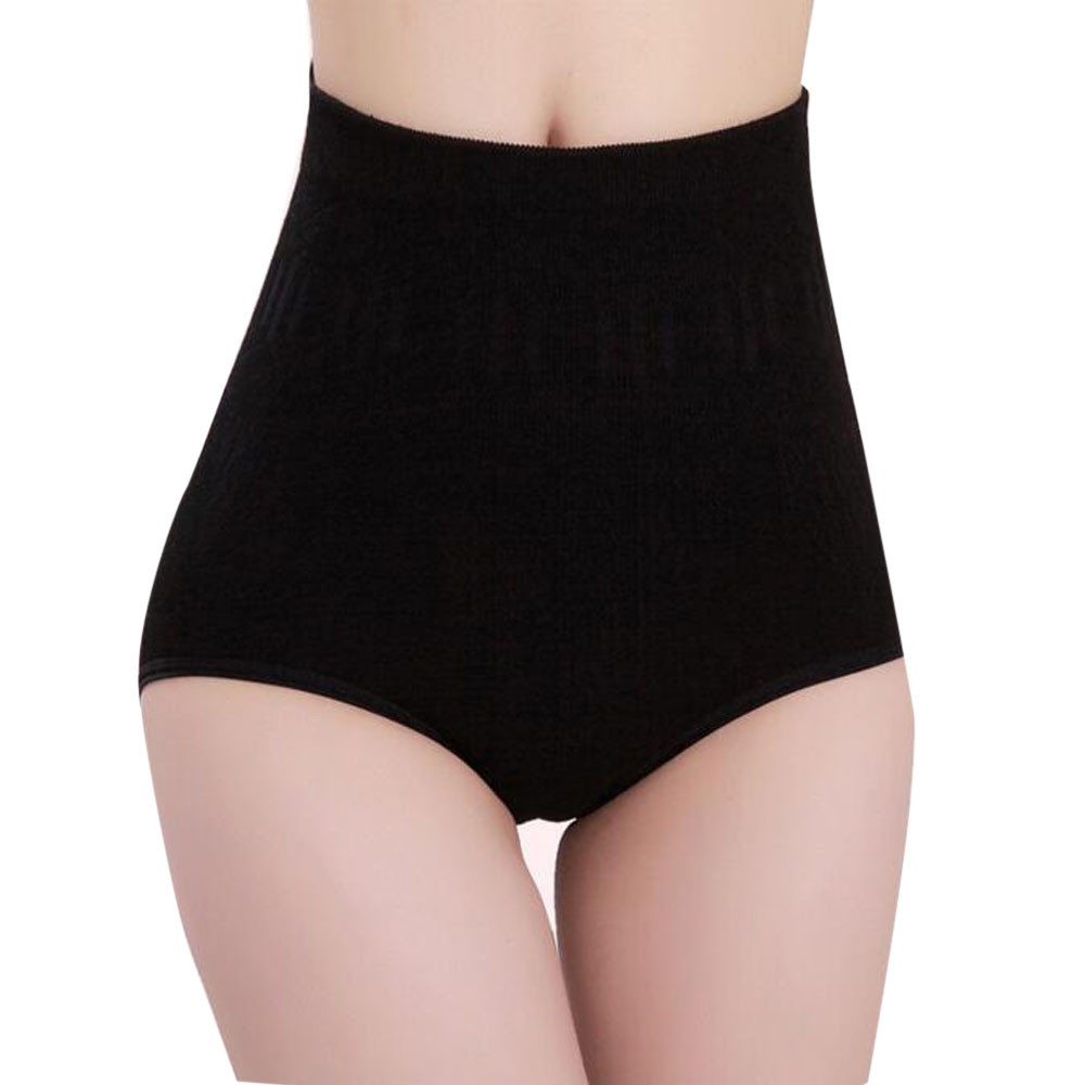 Plus Size Ice Silk Panties For Plump Women High Waist Seamless Solid Underwear Large Size Soft Abdomen Hips Briefs #LR1