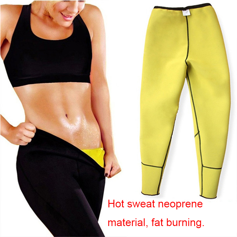 Image 5 - LAZAWG Women Sauna Weight Loss Sweat Shirts Fashion Design Slimming Neoprene Hot Body Shaper Leggings Suits Hot Sweat Pants SetsControl Panties   -