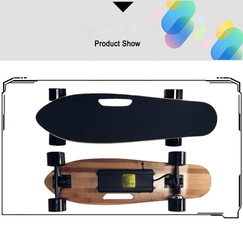 Planche à roulettes électrique 27 pouces 4 roues Longboard planche à roulettes 150W 24V moteur avec télécommande pour adultes chcover Dropshippng - 2