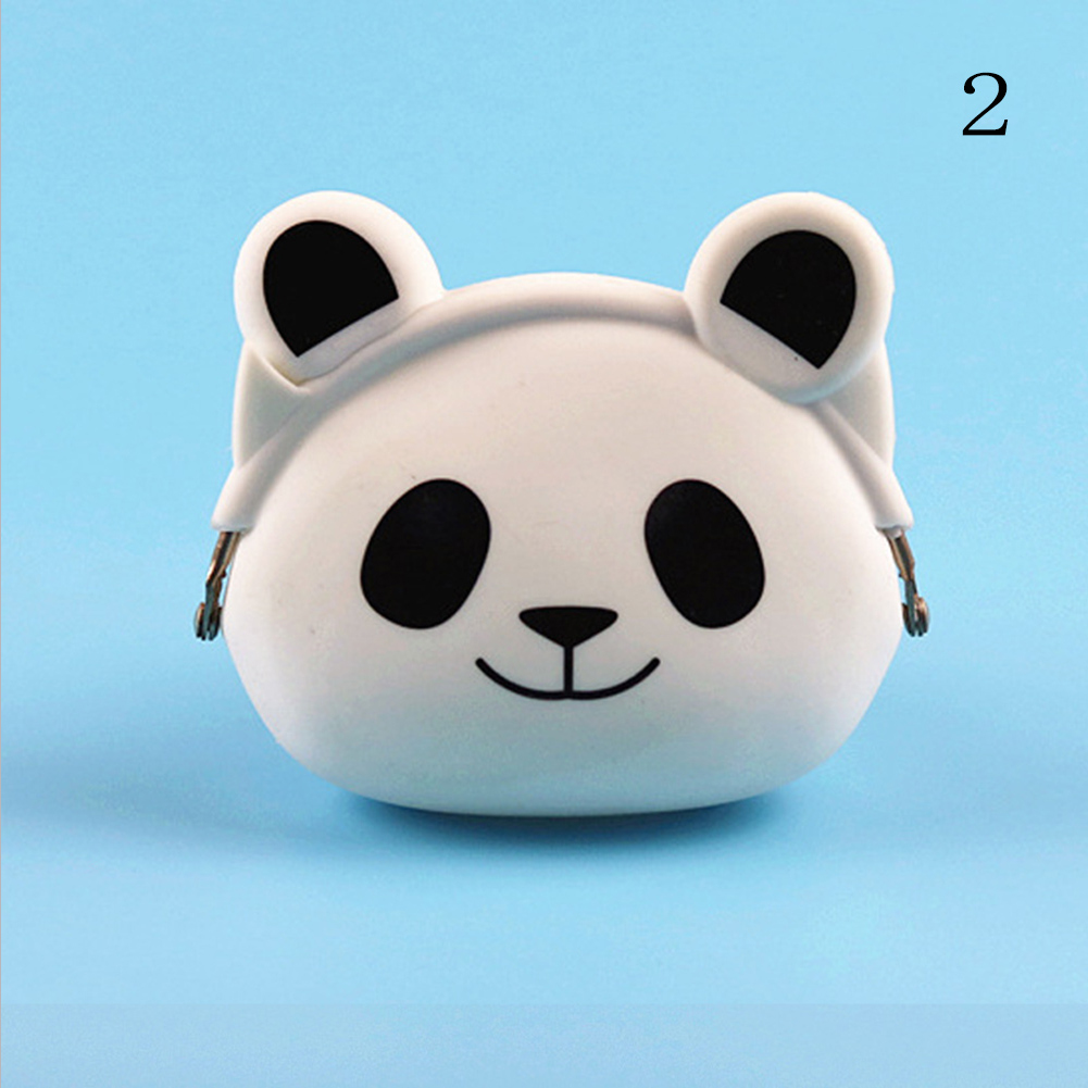 Lovely Women New Coin Bag Silicone Storage Animal Panda Cat Bear Mini Pouch Coin Bag Change Wallet Purse Hasp New Design Wallets