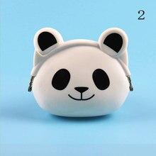 Schöne Frauen Neue Münze Tasche Silikon Lagerung Tier Panda Katze Bär Mini Beutel Münze Tasche Ändern Geldbörse Haspe Neue design Brieftaschen