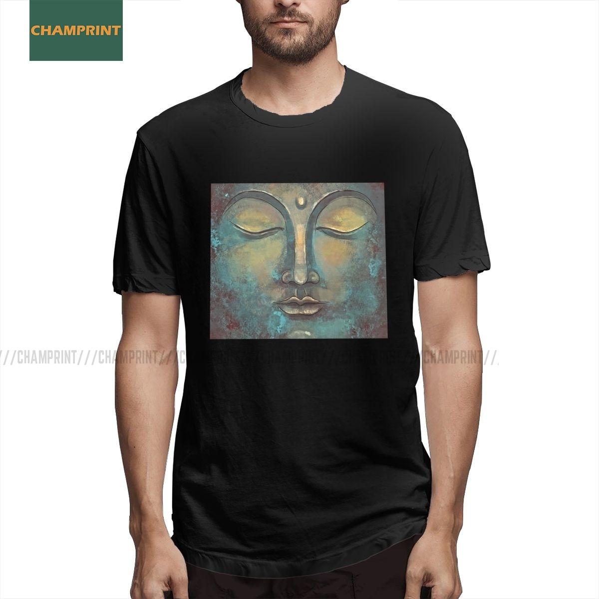 Будда, разитация, искусство, футболки, мужские чистые хлопковые удивительные футболки, Йога, дзен, буддизм, духовный, индийский буддийский Стиль Вечерние|Футболки| | АлиЭкспресс