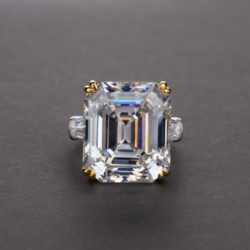 OEVAS Luxury Big Square Pink Yellow White AAAAA+ Zicon S925 Sterling Silver Wedding Rings Girls Birthday Stone Jewelry Dropship 9
