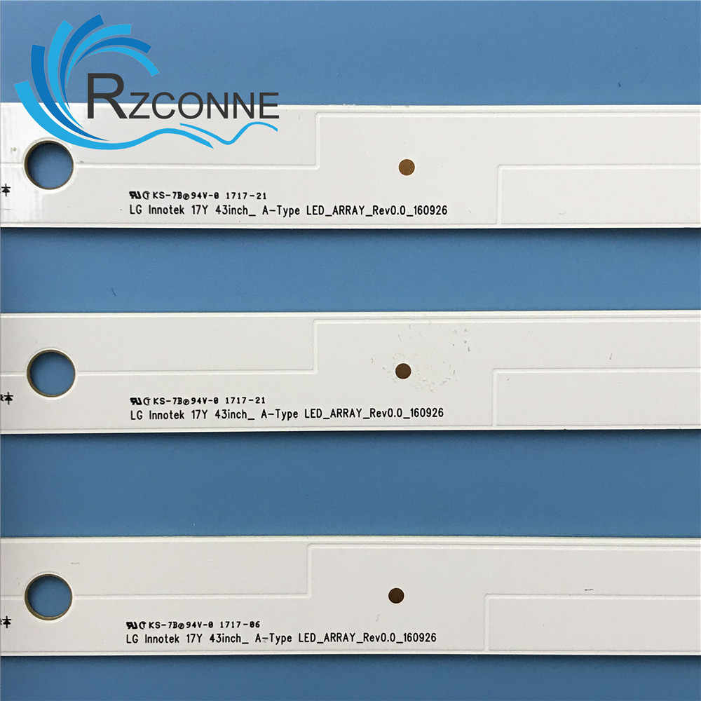Led شريط إضاءة خلفي 7 مصباح ل LG Innotek 17Y 43inch-A-Type 43UJ6300 43UJ6307 43UJ634V 43LJ594V HC430DUN SSC_43LJ61_FHD 43UJ630V