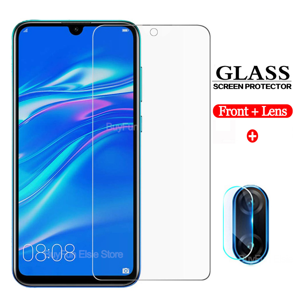2in1 Protective Glass For Huawei Honor 10 Lite 10i Play 8a 8x 8s Screen Protector Camera Lens For Y5 Y6 Y7 2019 Tempered Glass