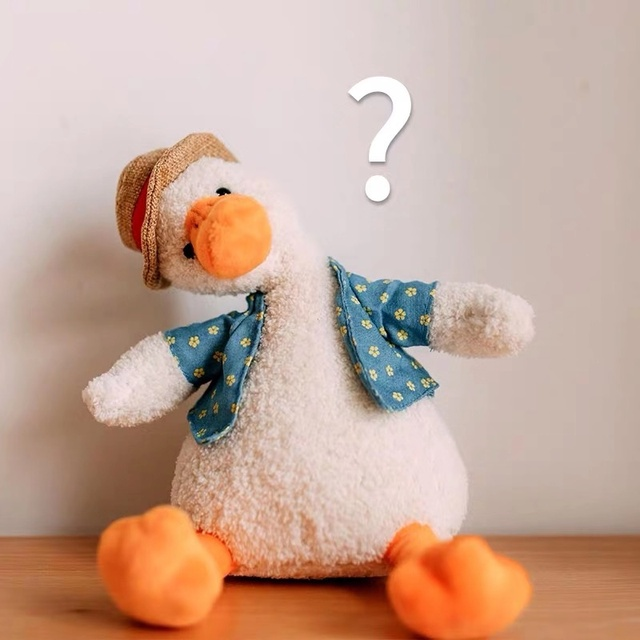 1pcs New Cute Funny Come on Duck Plush Toys Lovely Cotton Hat Duck Stuffed Dolls Birthday Gift For Children Kids Figure Toys
