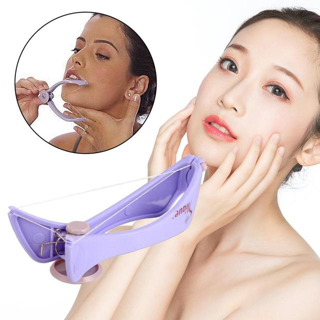 HOT !!! Women Facial Hair Remover Spring Threading Epilator Face Defeatherer DIY Makeup Beauty Tool for Cheeks Eyebrow