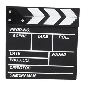 Image 2 - Film TV Show Cut Action Wooden Movie Clapboard Theater Party Oscar Decoration Movie Clapper Board Photo Studio Film Making Prop