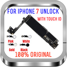 Not ID Locked For iphone 7 Motherboard unlocked Mainboard 100% Original for iphone 7 Main Logic board full Chips Support Update