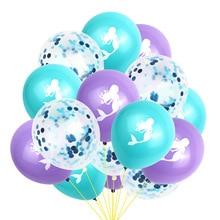 10 pcs/lot  12 inch Mermaid Balloon Set Party Birthday Decoration Balloons