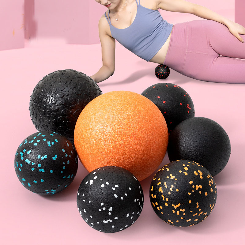 🔥EPP Fitness Ball Double Lacrosse Massage Ball Set Mobility Peanut Ball for Self-Myofascial Release Deep Tissue Yoga Gym Home
