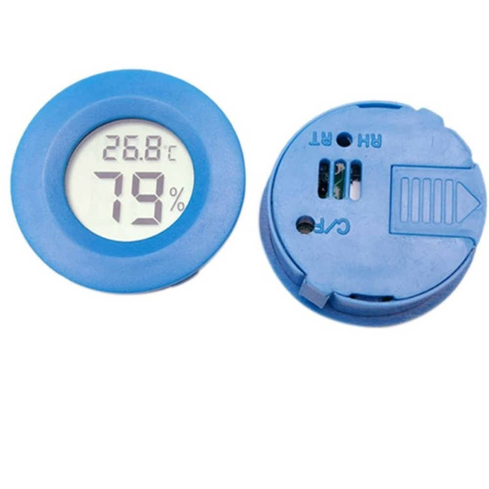 Small Size LCD Digital Thermometer Hygrometer Lizard Tortoise Frog Net Box Climb Box Thermometer Electronic Hygrometer in Temperature Gauges from Home Garden