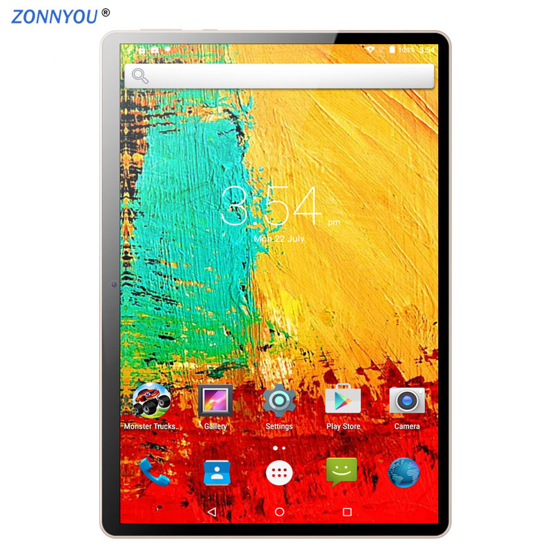 10.1-inch Tablet PC Android 7.0 Google 3G Call Octa Core 4GB RAM 64GB ROM Wi-Fi Bluetooth IPS 10.1 Tablet PC