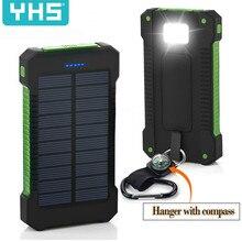 Solar Power Bank Waterproof 30000mAh Solar Charger USB Ports