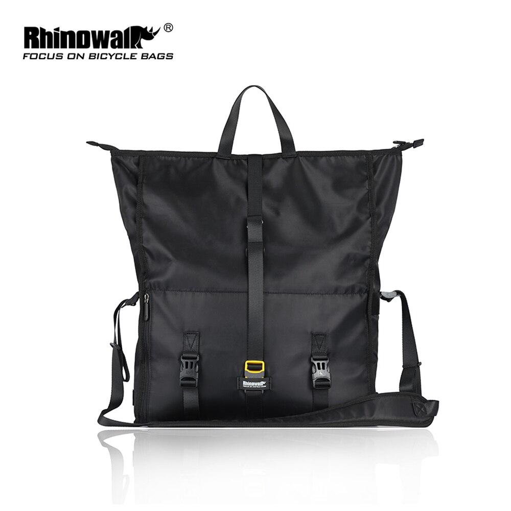 Rhinowalk Bicycle Bag Saddle Rear Bag Multi-function Travel Shoulder Handbag Large Capacity Seat-post MTB Bike Bags Waterproof