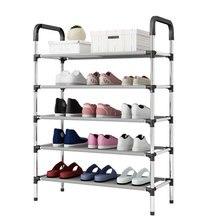 ファッション DIY 組立金属靴棚学生寮の靴収納ラックマルチ層小靴ラック主催キャビネット