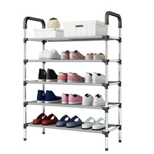 Fashion DIY Assembly Metal Shoes Shelf Student Dormitory Shoe Storage Rack Multi layers Small Shoe Rack Organizer Cabinet