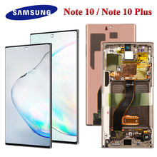 ORIGINAL AMOLED Lcd Screen For Samsung Galaxy Note 10 Lcd N970F note10 plus Lcd N975 N9750 LCD  Note 10 Display Touch Screen