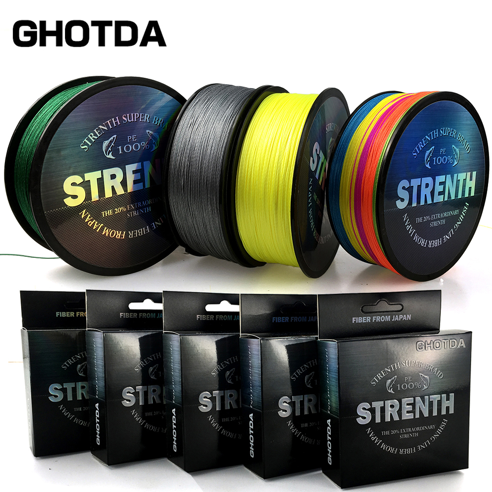 Multicolor 8/9/4 Strands 100M 150M 300M 500M PE Braid Fishing Line Sea Saltwater Fishing Weave 100% SuperPower GHOTDA