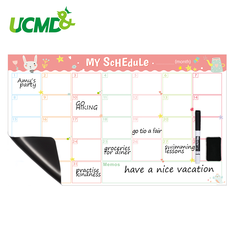Magnetic Whiteboard Calendar Office Kitchen Schedule Periodic Daily Planner Table Gift For Kids Study Planning Learning Supplies