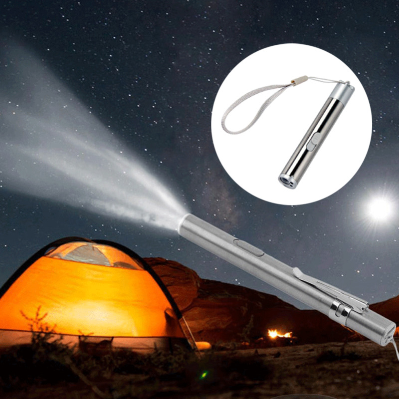Mini Pocket Flashlight LED Strong Light Torch Small Portable High Spot Single Function Lighting