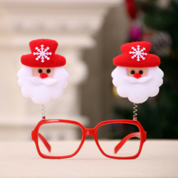 1PC Creative Christmas Items Party Glasses Frame Decoration Christmas Articles New Year Xmas Decoration Glasses Gift for Kids 1