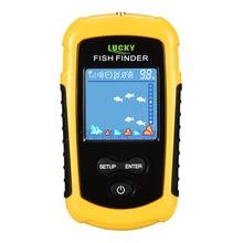 Lucky FFC1108 1 & ffcw1108 qualidade superior portabl inventor de peixes sonar com fio de alarme de profundidade de peixes 100m equipamento de pesca