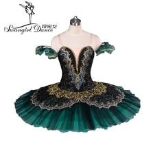 Tutu pour adulte, Ballet de lesmeralda, noir vert, tutu, performance, ballet professionnel classique, en crêpes, nutcrackbt8941