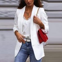 Женский винтажный пиджак hunter wish базовый с длинным рукавом