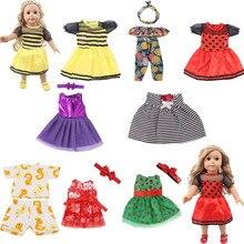 9 комплектов кукольные Платья и костюмы подходит для лета для девочек 18 дюймов & новорожденного поколения день рождения девочки игрушка Под...