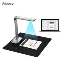 Aibecy F50 מתקפל HD USB ספר מסמך מצלמה סורק רגל דוושת LED אור AI טכנולוגיה 15 מגה פיקסלים A3 & A4 סורק