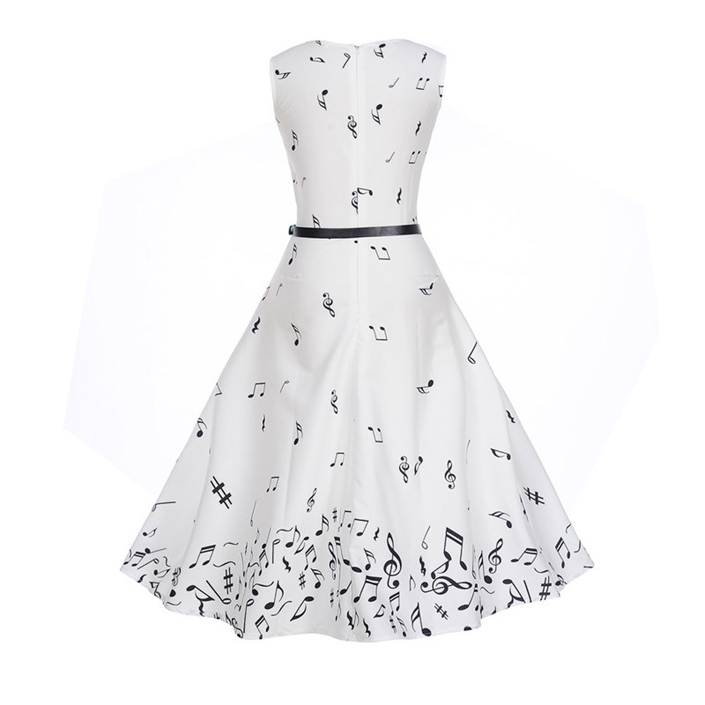 Stylish Bar Summer Women Dresses 2020 Casual print Retro Vintage Robe Rockabilly Swing Pinup Vestidos Valentines Day Party Dress